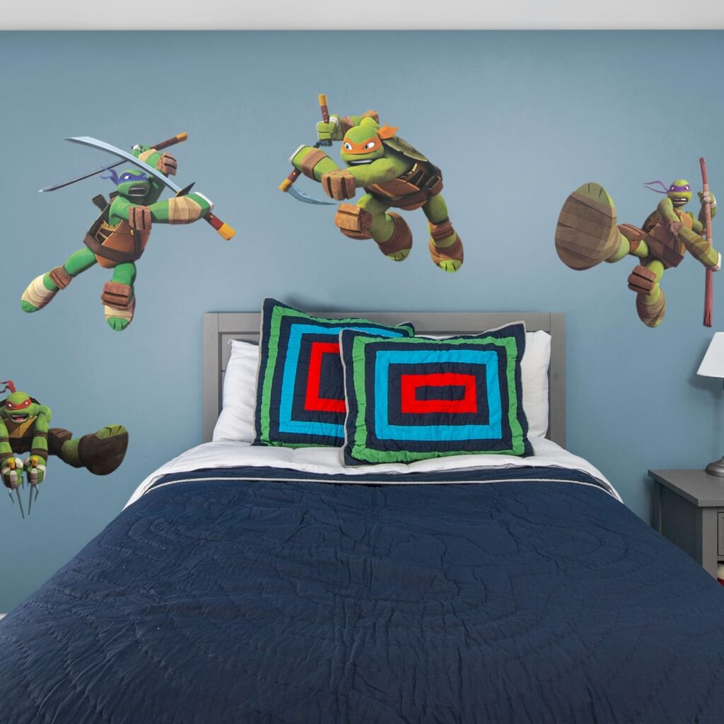 Trevligt sovrum med Ninja Turtles