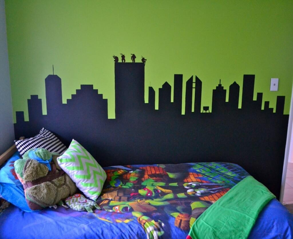 Fredligt sovrum med Ninja Turtles