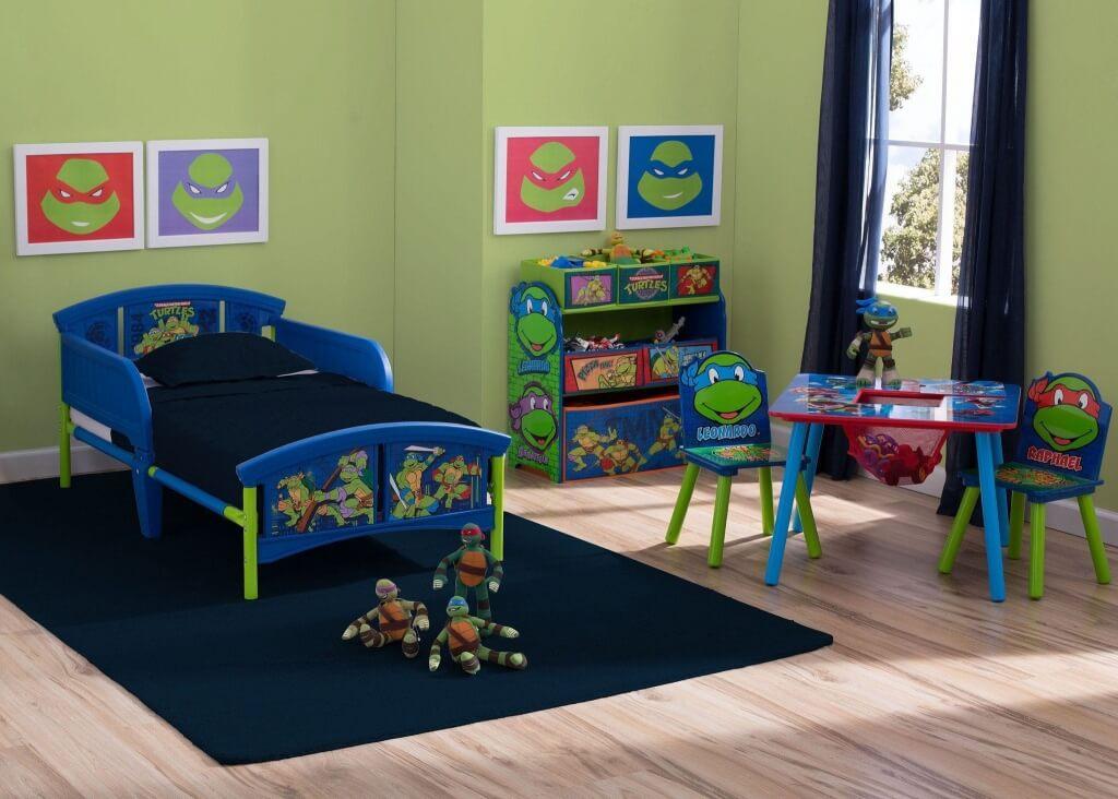 Komplett sovrum med Ninja Turtles