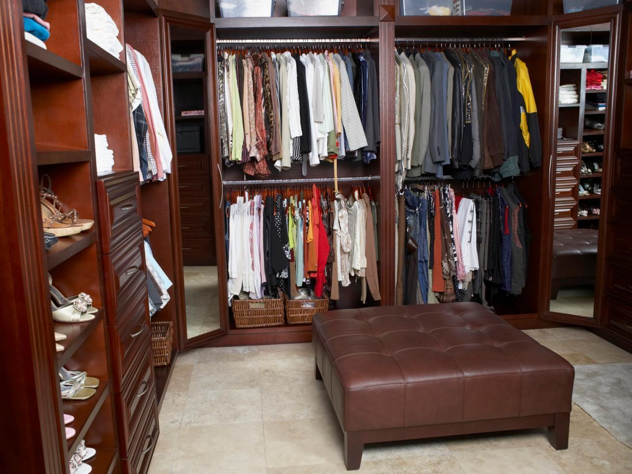 Walk-in sovrum garderob