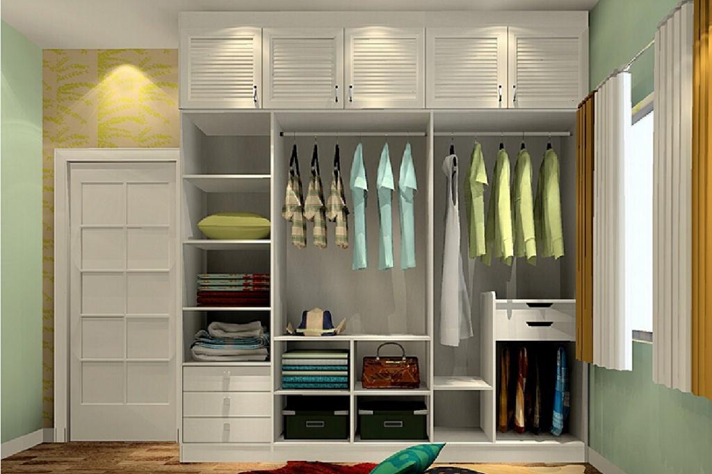 Trevlig sovrum garderob