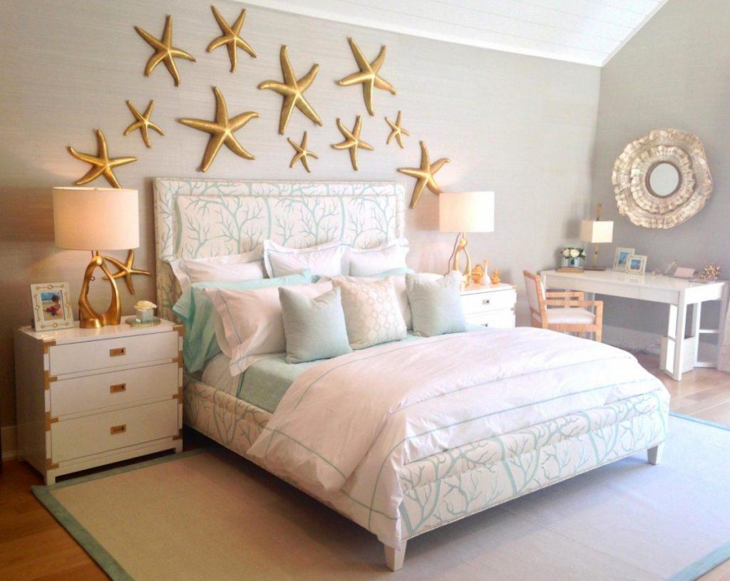 Kreativt sovrum vid havet