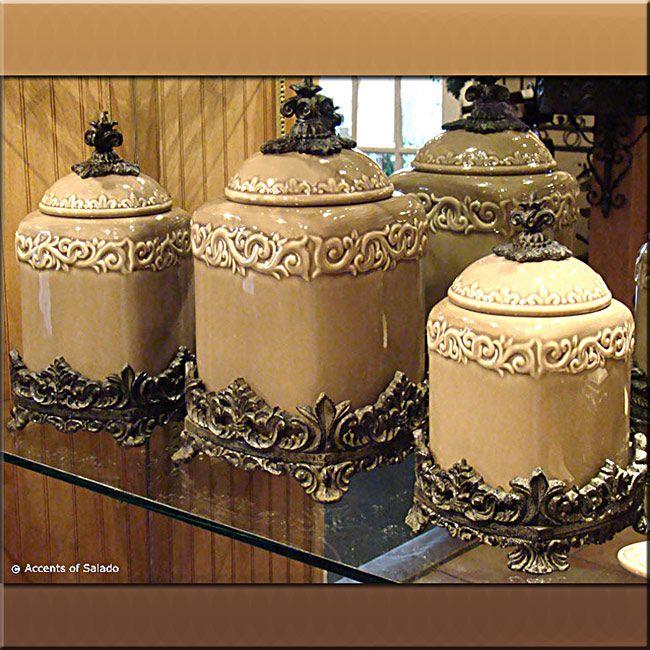 Dekorativa köksburkar ställer in bilder, var kan man köpa