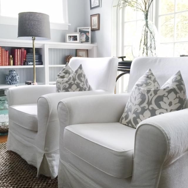 Överdragsmöbler i vardagsrummet - hem med Ke