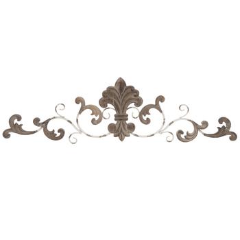 Snidade Fleur-De-Lis väggdekor av metall |  Hobbylobbyn |  18059