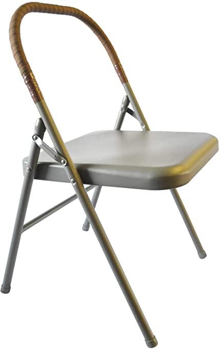 Amazon.com: Pune yogastol - solstol med brunt omslag: sport.