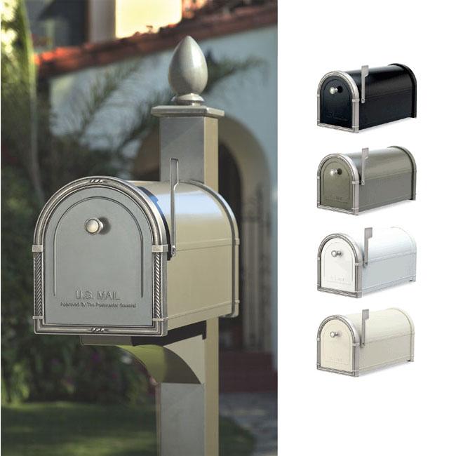 Coronado brevlåda med dekorativ post av arkitektonisk brevlåda