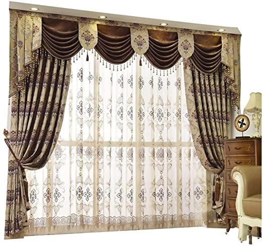 Amazon.com: Queen's House lyxiga gardiner i barockmönster.