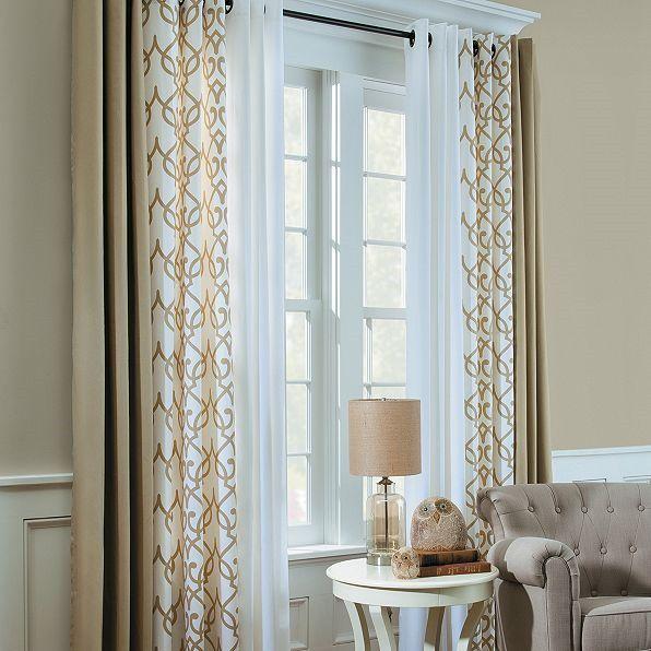 Blandningsgardiner - intressant |  Fönster gardiner vardagsrum.