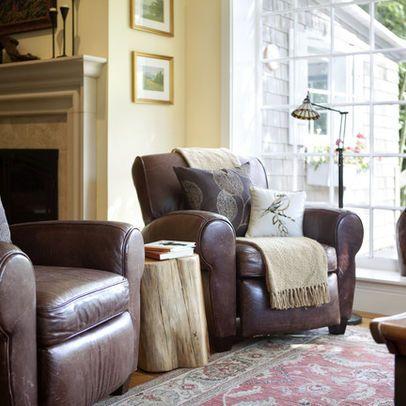 Läderdesignidéer, bilder, ombyggnad och dekor |  Vardagsrum .