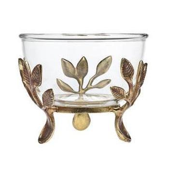 Metal Leaf dekorativ glasskål - Köp Metal Leaf dekorativt glas.