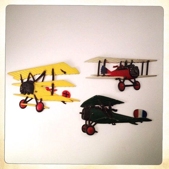 Vintage metall väggdekor av vägg Homco |  Etsy |  Flygplan vägg.