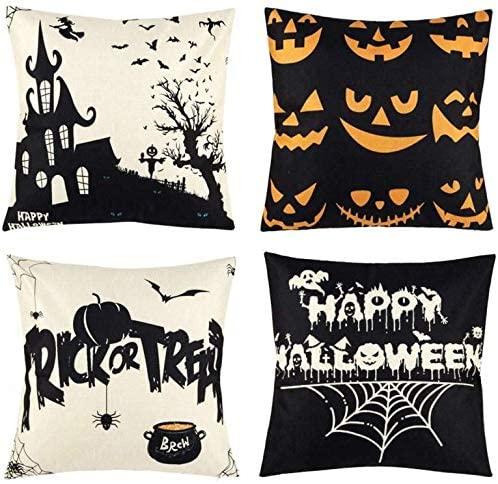 Amazon.com: Halloween-kuddar , Happy Halloween-kuddöverdrag.