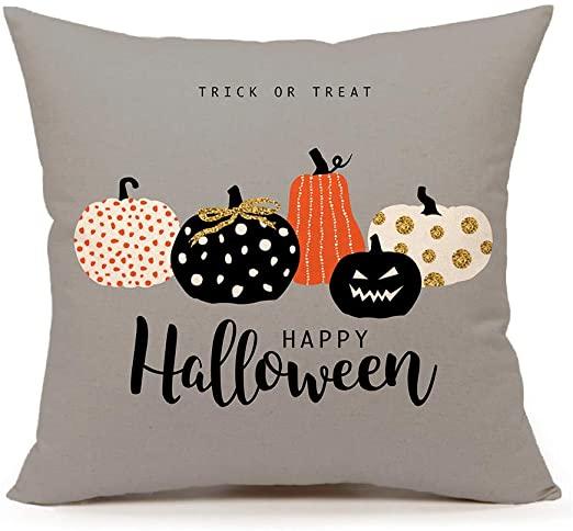 Amazon.com: 4TH Emotion Halloween Pumpkin Thrill Pillow Cover.