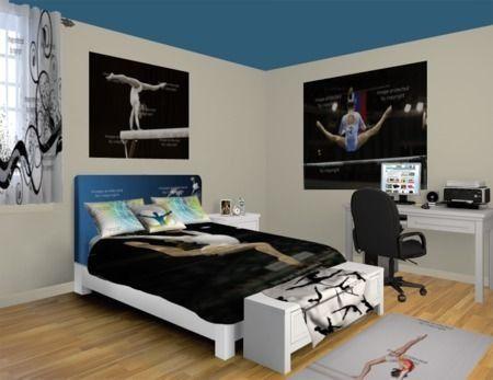 Pin av Gym Gab på Gymnastics Bedroom |  Gymnastik rum inredning.