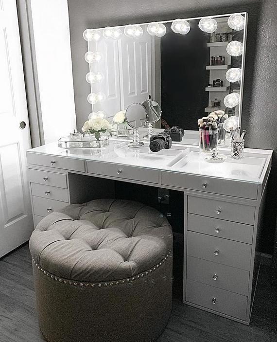 Hollywood Makeup Vanity Mirror med Lights-Impressions Vanity |  Et