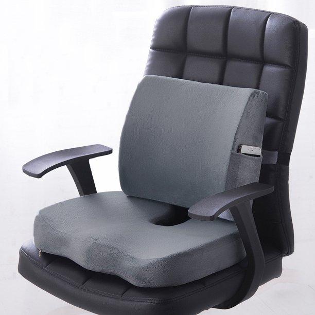 Premium Memory Foam-sittdyna ländryggsstöd ortopediskt hem.