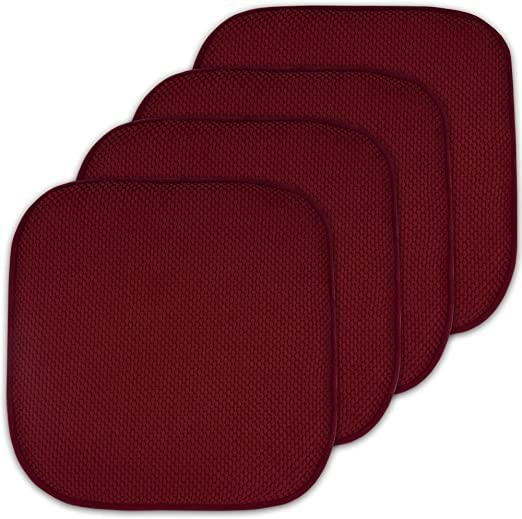 Amazon.com: 4-pack Memory Foam Honeycomb Nonslip Back 16