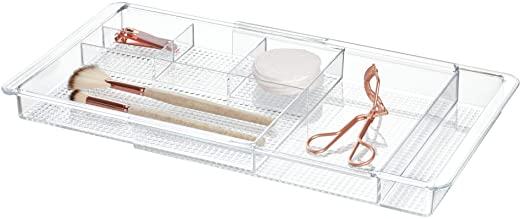 Amazon.com: iDesign Clarity Plastic Expanderbar låda organisera för.