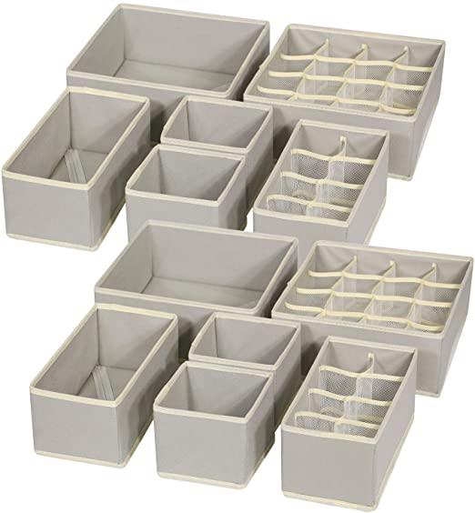 Amazon.com: TENABORT 12-pack vikbara lådarrangördelare.