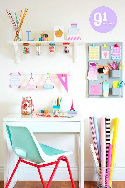 boo och pojken: barnens skrivbord utrymmen |  Barn skrivbord utrymme, rum DIY.