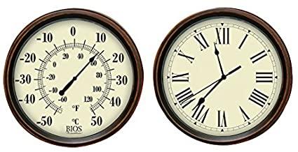 BIOS Dekorativ termometer och klockuppsättning Wall Cloc