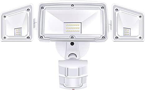 Amazon.com: 3 Head LED-säkerhetsljus Motion Outdoor Motion.