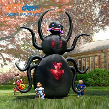 Halloween uppblåsbara jätte spindeltecknad film för gårdsdekoration.