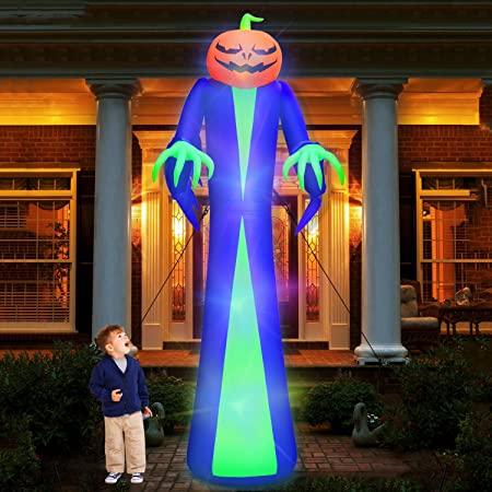 Amazon.com: 12Ft Giant Halloween Inflatables Pumpkin Ghost.