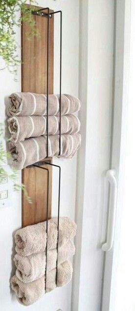 De vackraste idéerna för DIY handdukshållare / rack |  Handdukshållare.
