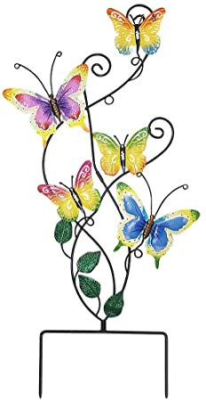 Amazon.com: Juegoal 28 tums Butterfly Garden Stake Decor Metal.