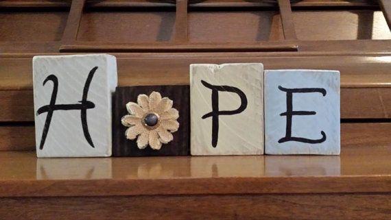 HOPP Dekorativa blockbokstäver Dekorativa brevblock Block trä  Etsy.