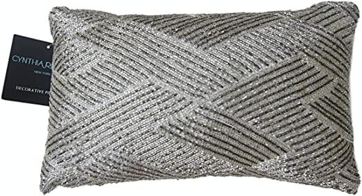 Amazon.com: Cynthia Rowley Pärlor Dekorativt kuddöverdrag 100.