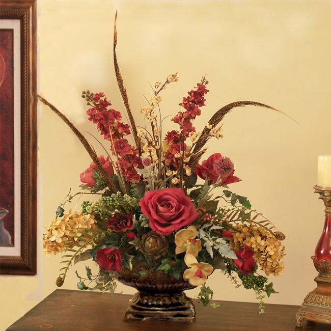 Anpassade mönster: Blommor heminredning, silke ros arrangemang, tulpan.