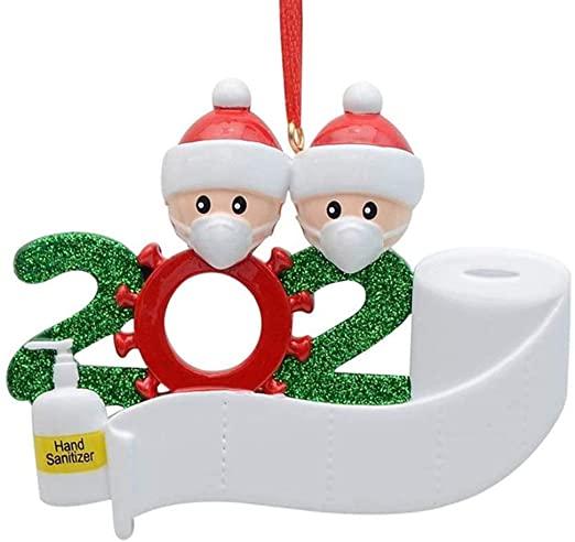 Amazon.com: Hotme 2020 Juldekorationer Karantänfamilj med.