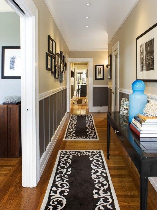 Hallidé - jag gillar de mattorna.  Vi har två mycket långa korridorer.