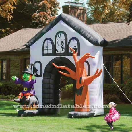 Utomhus stor luftblåst Halloween uppblåsbar Haunted House Archway.