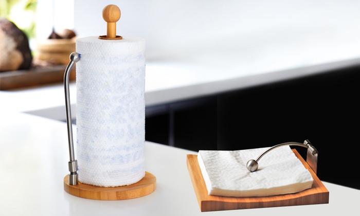 Pappershandduk & Servetthållare    Groupon Goo