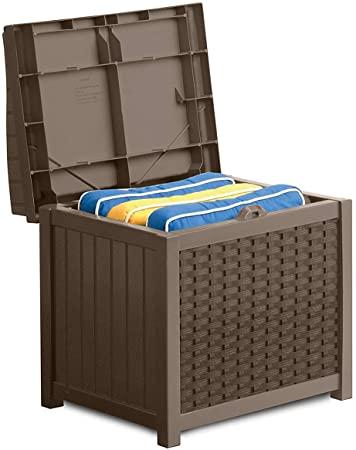 Amazon.com: Suncast 22-Gallon Small Deck Box - lättviktsharts.