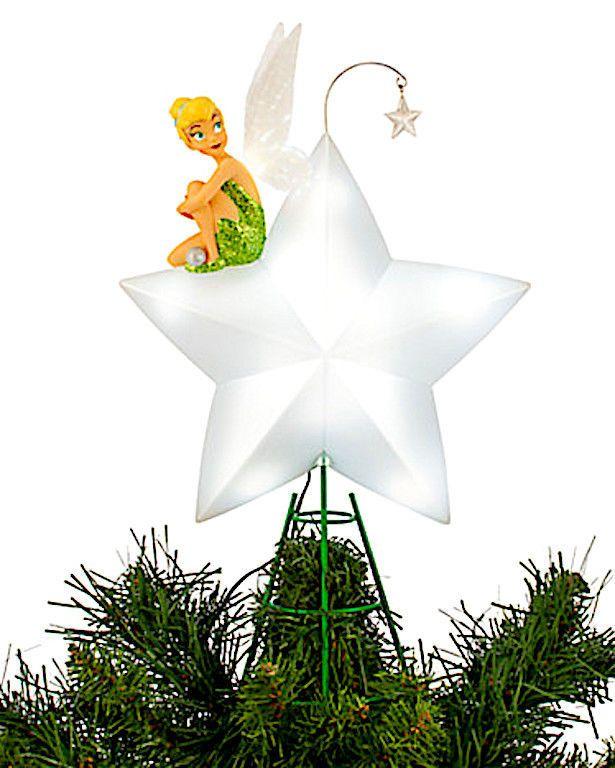 Disney Tinker Bell Light-Up Tree Star Tree Topper Ny jul.