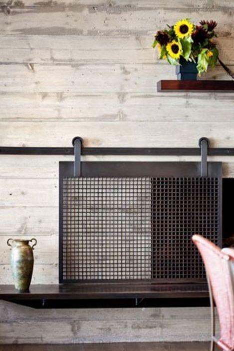 Hur man gör en eldstadskärm med låddörrstil  Designtrapped.