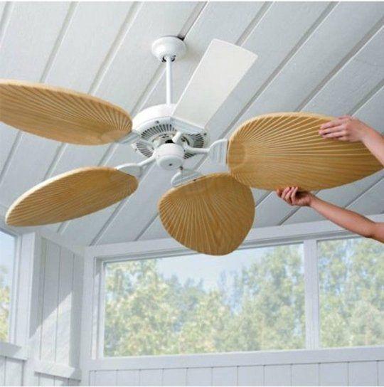 Superfan: 9 DIY-idéer för takfläktar  Tropisk heminredning.