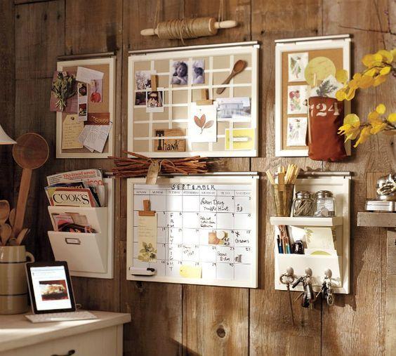 20 DIY Memo Board Ideas - Alla DIY Masters    Väggorganisation.
