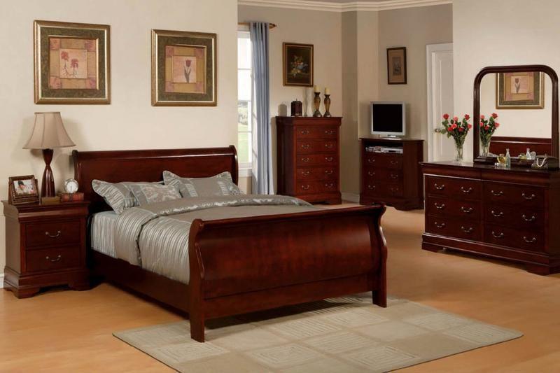 sovrumsmöbler i massivt körsbärsträ |  Sovrum i körsbärsträ.