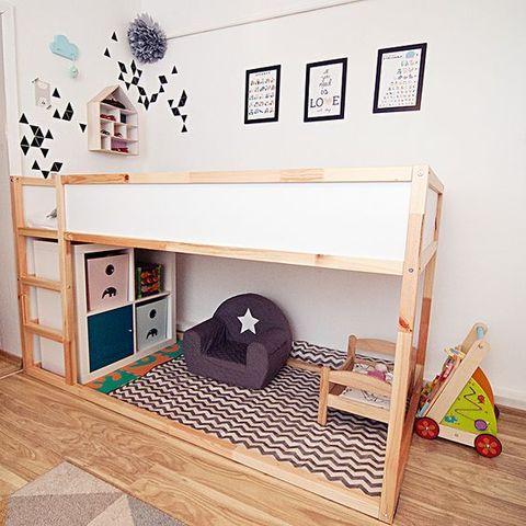 40 coola IKEA Kura våningssänghackar |  ComfyDwelling.com |  Små barn.