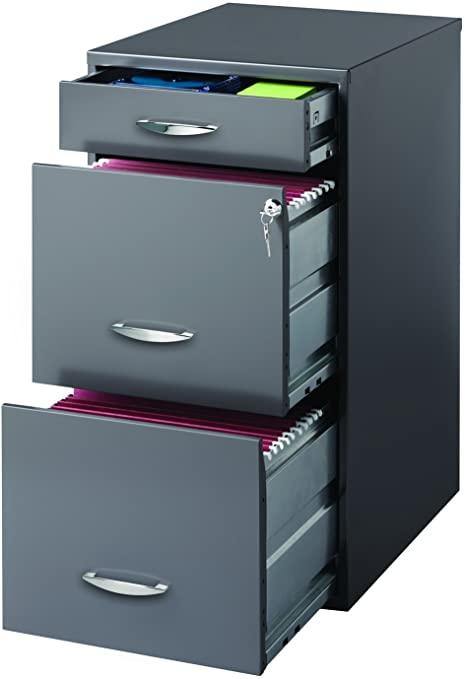 Amazon.com: Hirsh SOHO 3 lådaskåp i kol: hem.