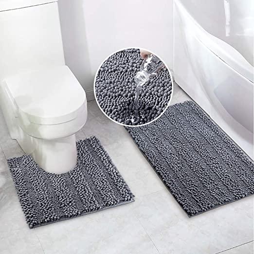 Amazon.com: Badrumsmattor Badmattorset för badrum 2 st 20 x.