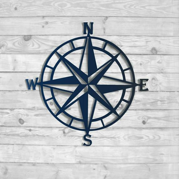 Kompass Rose Metal Wall Art Nautical Compass Nautical Wall |  Et