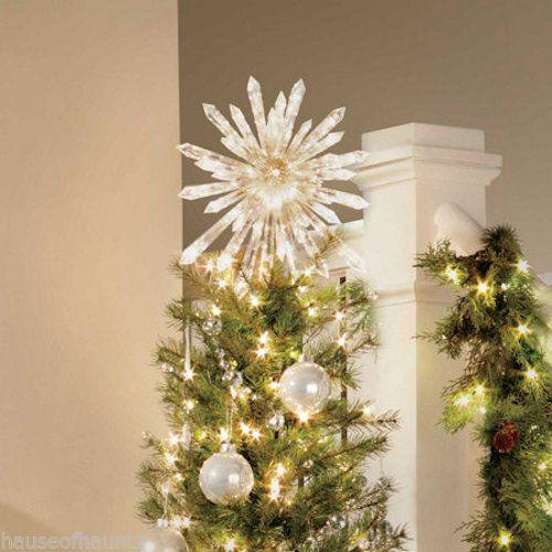 Upplyst julgransdekoration Crystal Star Dekorationsprydnad 50.
