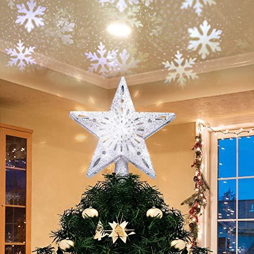 Amazon.com: Yostyle Christmas Tree Topper upplyst med LED.